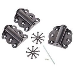 Ideal Security Adjustable Self-Closing Spring Door Hinge Set (Black)