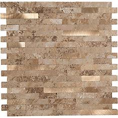 11.5X11.7 Metal Sand bronze Peel&stick Metal and PVC