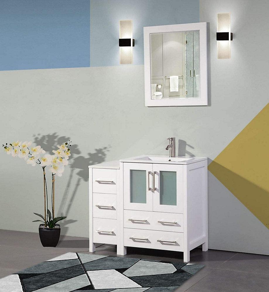 Vanity Art Brescia 36 inch Bathroom Vanity in White with ...