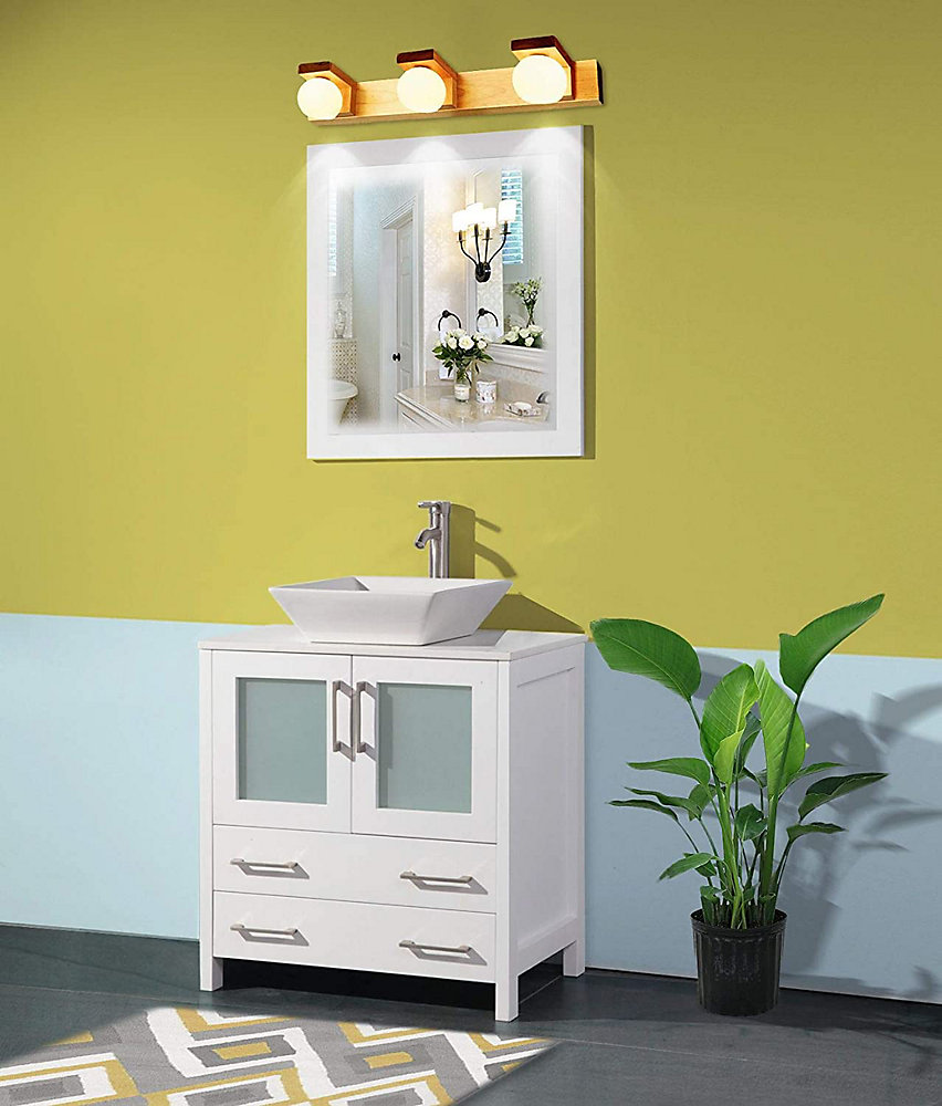 Vanity Art Ravenna 30 inch Bathroom Vanity in White with ...