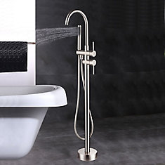 Freestanding faucet with shower head in brushed nickel VA2012-BN