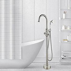 Freestanding faucet with shower head in brushed nickel VA2029