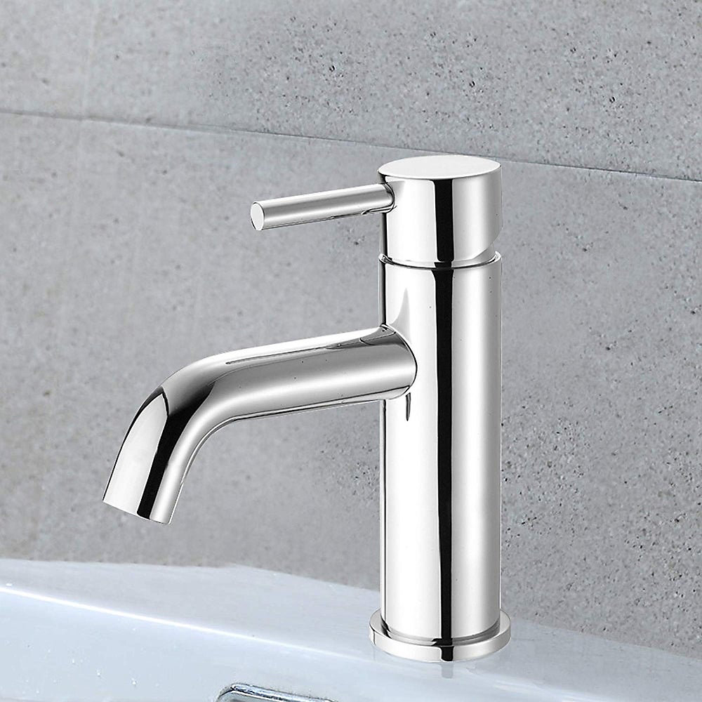 Single handle bathroom faucet polished chrome. Drain not included.