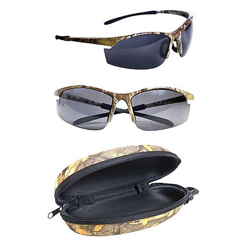 Shadedeye Polarized Camo Sunglasses with Hard Black Case (2-Pack)