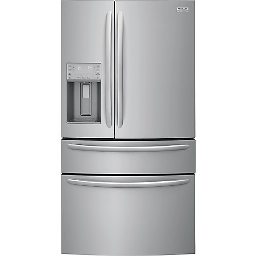 36-inch W 21.8 cu. ft. 4-Door French Door Refrigerator in Stainless Steel, Counter Depth