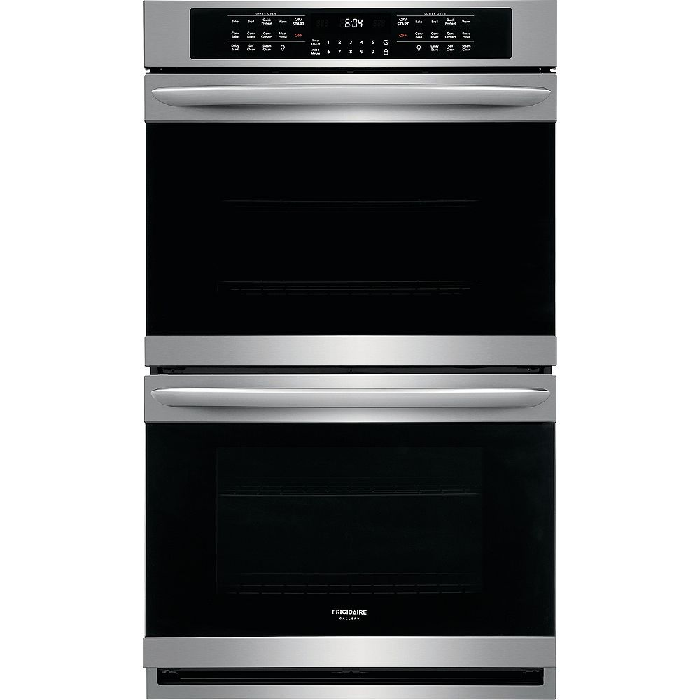 Frigidaire Gallery 30-inch Double Electric Wall Oven Self-Cleaning with Convection in Stainless Steel