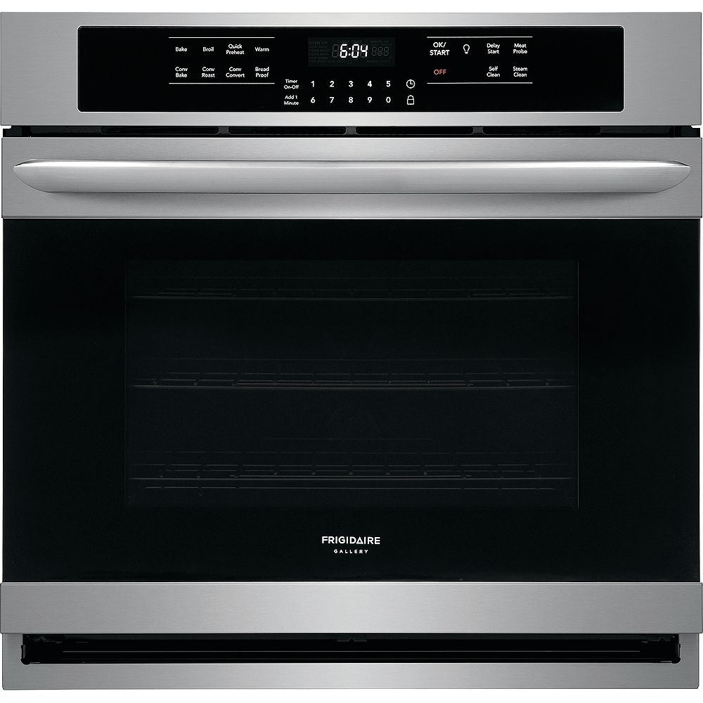 Frigidaire Gallery 30-inch Single Electric Wall Oven Self-Cleaning with Convection in Stainless Steel