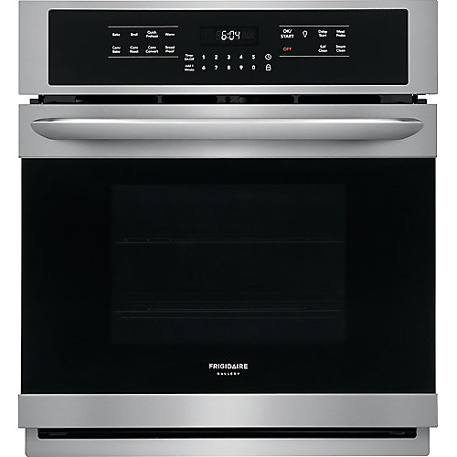 27-inch Single Electric Wall Oven Self-Cleaning with Convection in Stainless Steel