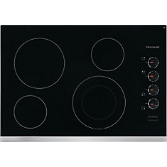 30-inch Electric Cooktop with 4 Elements including Quick Boil Element in Stainless Steel