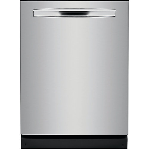24-inch Tall Tub Built-in Dishwasher with Dual OrbitClean Spray Arm in Smudge Proof Stainless Steel