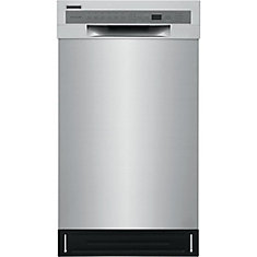 18-inch Front Control Dishwasher in Stainless Steel with Stainless Steel Tub