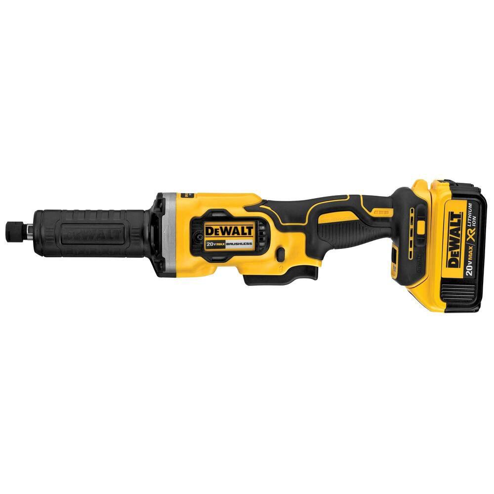 DEWALT 20V MAX XR Variable 3-Speed Die Grinder (4.0Ah) with 2 Batteries and Bag