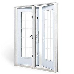 JELD-WEN Windows & Doors 5 ft. Garden Door LH Outswing with 15 Lite door glass