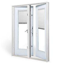 JELD-WEN Windows & Doors 5 ft. Garden Door LH Outswing with internal Mini Blinds door glass