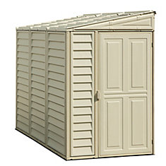 SideMate 4 ft.W x 8 ft.D Fire Retardant Vinyl Resin Shed