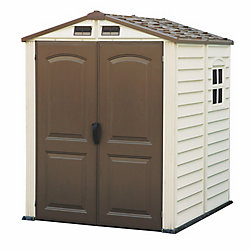 Duramax StoreMate 6 ft.W x 6 ft.D Fire Retardant Vinyl Resin Shed