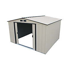 Eco 10 ft.W x 10 ft.D Galvanized Steel Shed