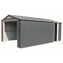 Duramax Imperial 12 ft.W x 20 ft.D Galvanized Steel Garage in Dark Gray