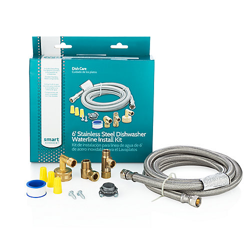 6 ft. Stainless Steel Dishwasher Installation Kit
