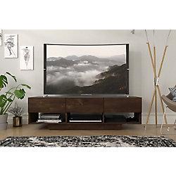Nexera Stereo 60-inch TV Stand, Truffle