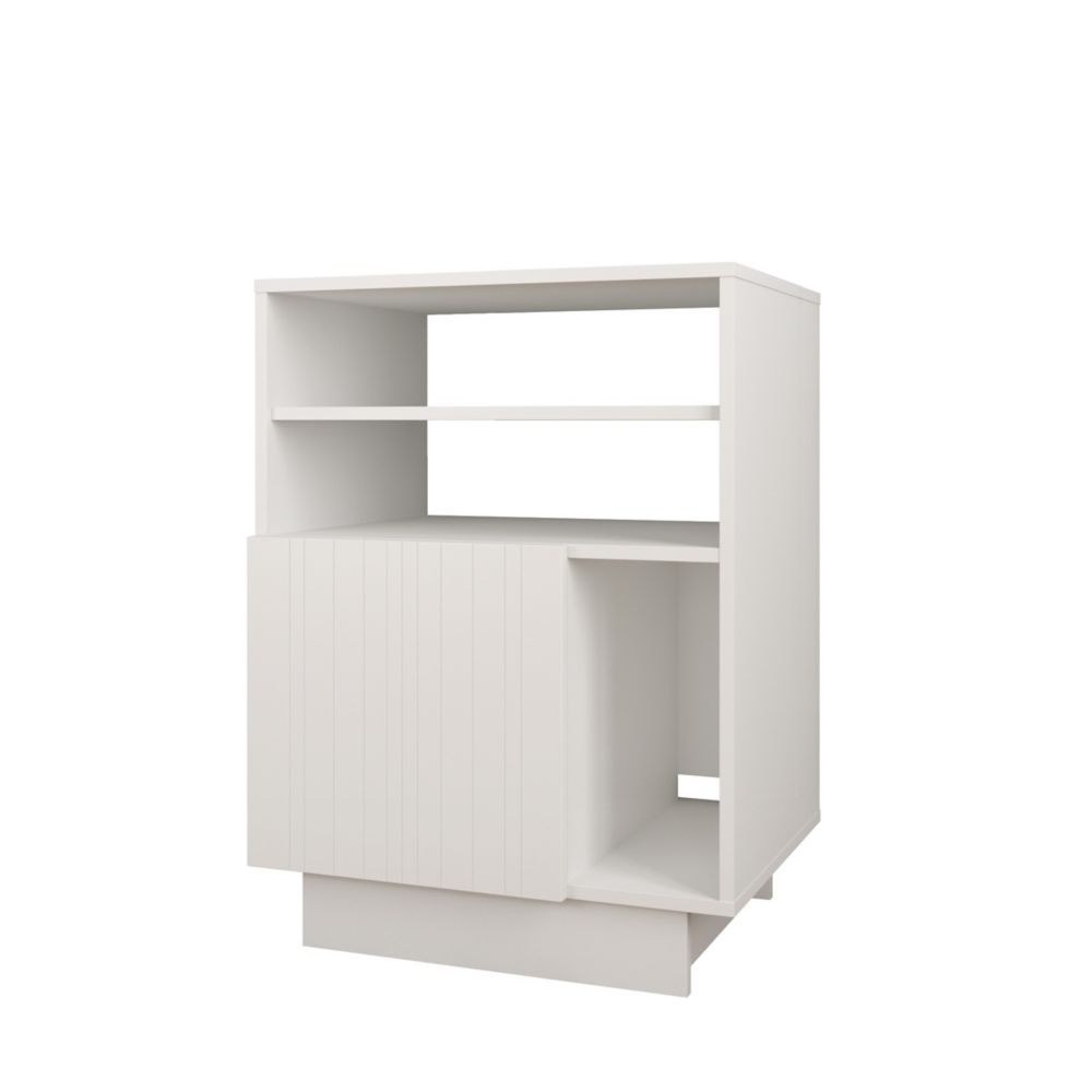Nexera Marble Audio Tower with 1 Door, White