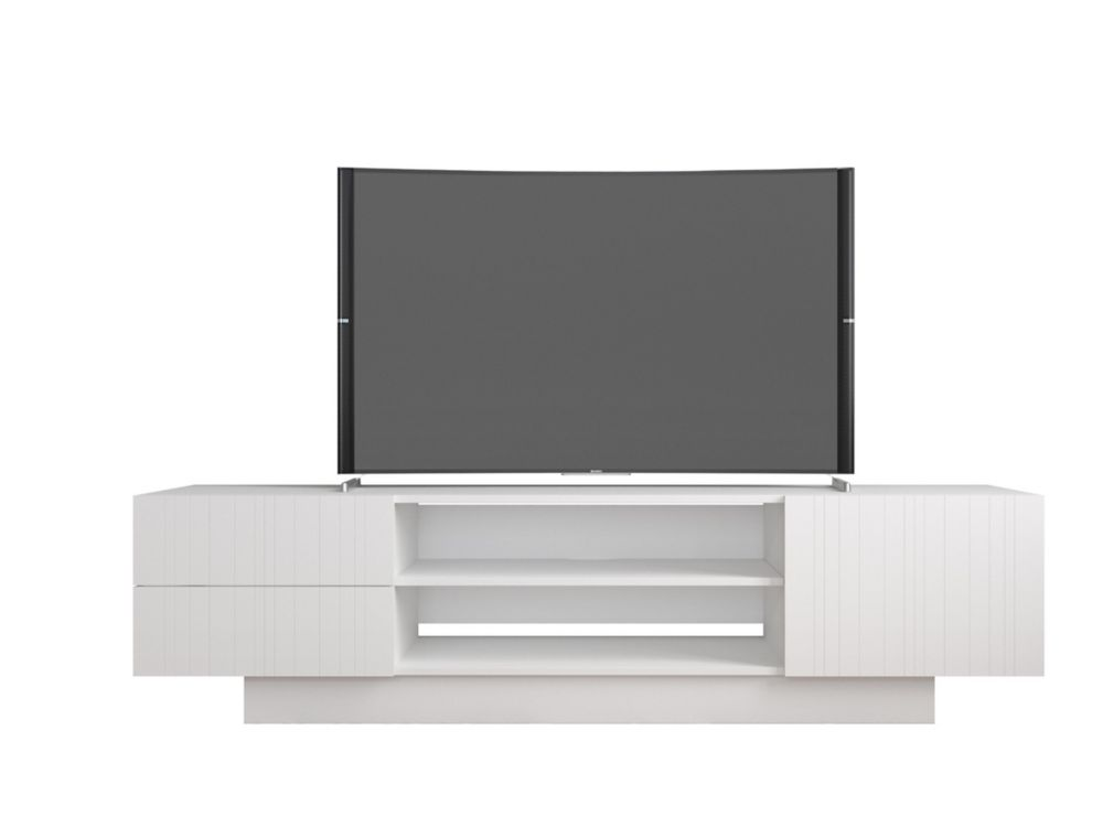 Marble 72 Inch Tv Stand In White