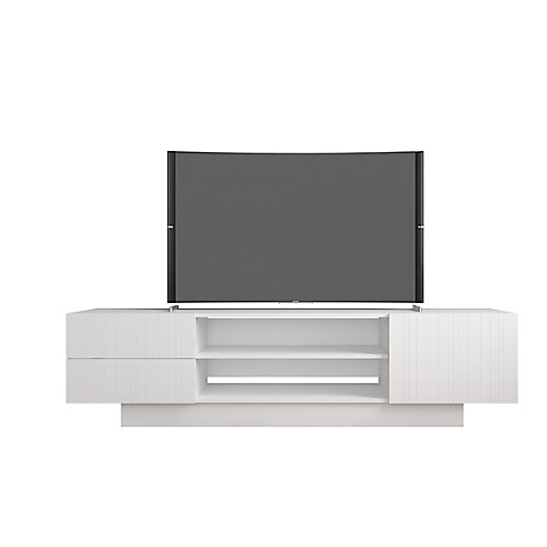 Marble 72-inch TV Stand in White