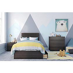 Nexera Alaska Twin Bedroom Set, Ebony and White