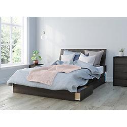 Nexera Celeste Queen Size 3-Piece Bedroom Kit, Black and Ebony