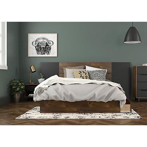 ensemble de chambre à coucher double 4 pièces Oscuro, Truffe et Noir
