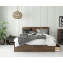 Nexera Oscuro 3-Piece Queen Bedroom Set, Truffle and Black