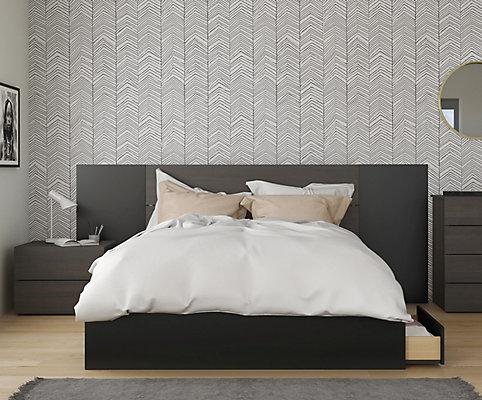 Super Nexera Evoque 4 Piece Queen Size Bedroom Set Ebony Black The Home Depot Canada Download Free Architecture Designs Pendunizatbritishbridgeorg