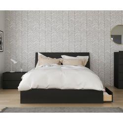 Nexera Epik 3-Piece Queen Size Bedroom Set, Black