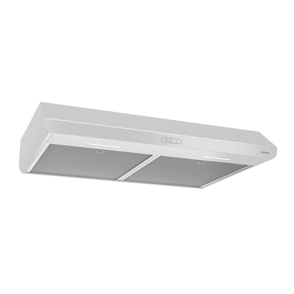 30 inch 300 CFM Under cabinet range hood in white