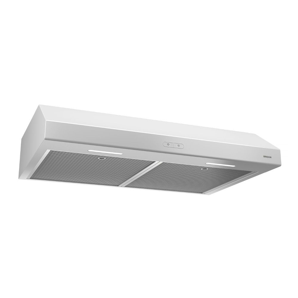 Broan 30 inch 250 CFM Under cabinet range hood in white