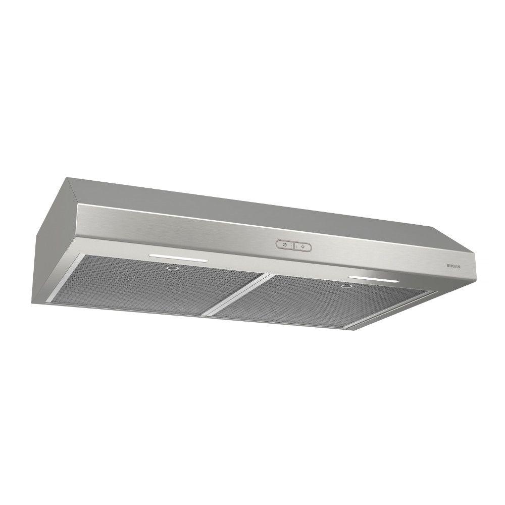 30 inch 250 CFM Under cabinet range hood in stainless steel