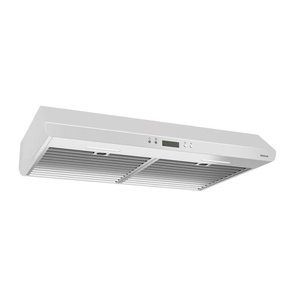 Broan 30 inch 400 CFM Under cabinet range hood in white