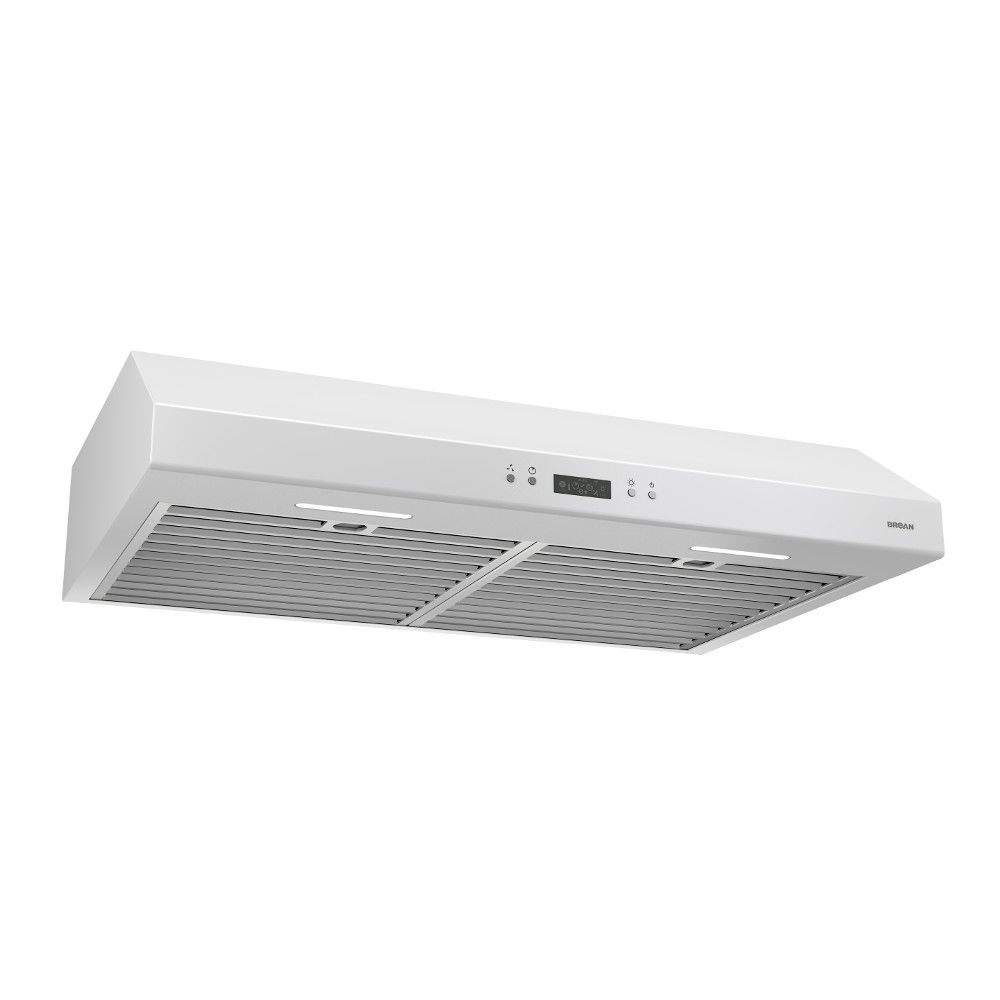 Broan 30 inch 600 CFM Under cabinet range hood in white