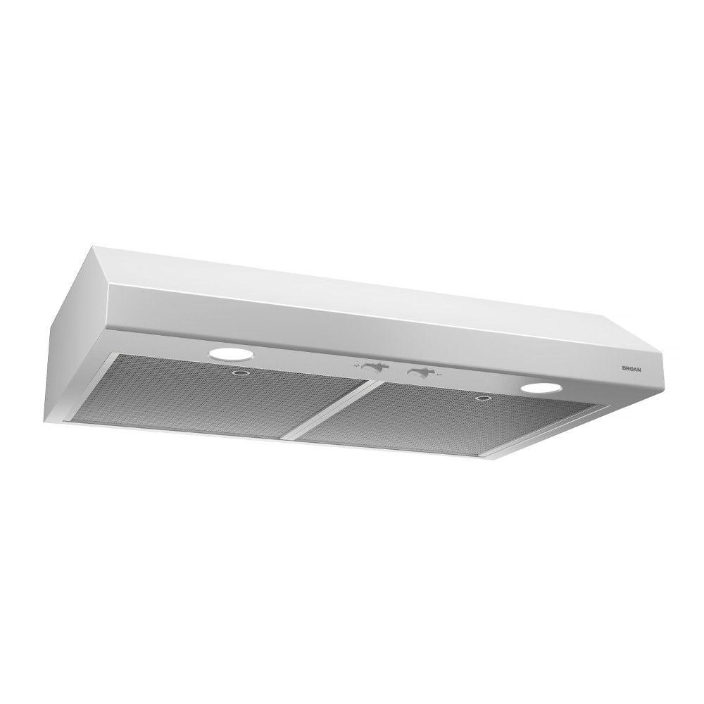 Broan 24 inch 250 CFM Under cabinet range hood in white