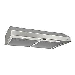 Broan Hotte de cuisinière sous-armoires 24 po 250 pi3/min en acier inoxydable