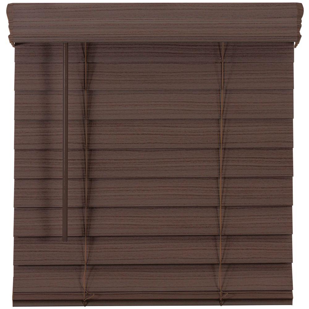 Home Decorators Collection 2.5-inch Cordless Premium Faux Wood Blind Espresso 34.25-inch x 48-inch