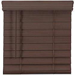 Home Decorators Collection 2.5-inch Cordless Premium Faux Wood Blind Espresso 48-inch x 48-inch