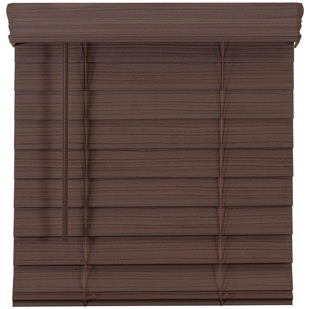 Home Decorators Collection 2.5-inch Cordless Premium Faux Wood Blind Espresso 53-inch x 48-inch
