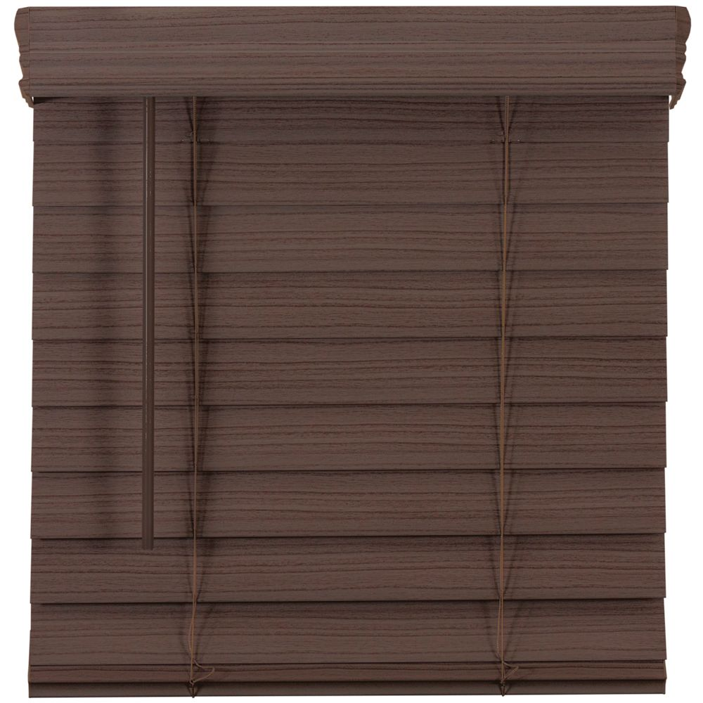 Home Decorators Collection 2.5-inch Cordless Premium Faux Wood Blind Espresso 54.5-inch x 48-inch