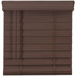 Home Decorators Collection 2.5-inch Cordless Premium Faux Wood Blind Espresso 63-inch x 48-inch