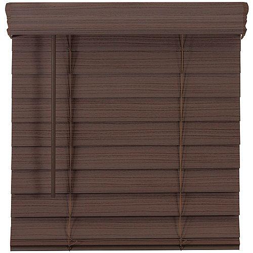 Home Decorators Collection 2.5-inch Cordless Premium Faux Wood Blind Espresso 64.5-inch x 48-inch
