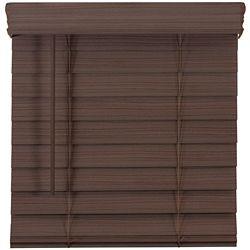 Home Decorators Collection 2.5-inch Cordless Premium Faux Wood Blind Espresso 66-inch x 48-inch