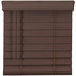 Home Decorators Collection 2.5-inch Cordless Premium Faux Wood Blind Espresso 36.25-inch x 72-inch