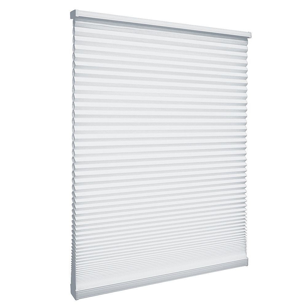 Home Decorators Collection Cordless Light Filtering Cellular Shade Snow Drift 24.25-inch x 72-inch