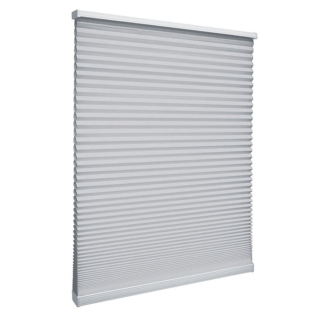 Home Decorators Collection Cordless Light Filtering Cellular Shade Silver 31.25-inch x 64-inch